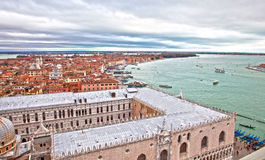 View on city and Canal Grande in Venice Royalty Free Stock Photography