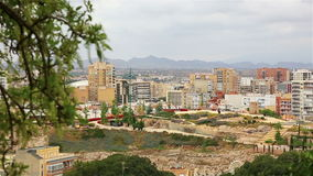 View of the city of Cartagena, Spain stock video footage