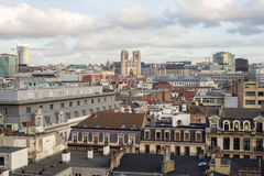 View of the city and cathedrale Royalty Free Stock Images