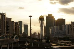 Astana city view in summer royalty free stock photos
