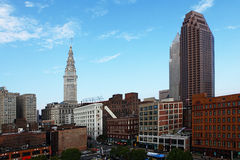 View of the city center in Cleveland on a summer day Royalty Free Stock Images