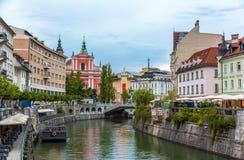 View of the city center of Ljubljana, Slovenia. View of the city center of Ljubljana - Slovenia Stock Photos