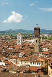 View of city center of Lucca in Italy Royalty Free Stock Photo