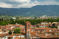 View of city center of Lucca Royalty Free Stock Image