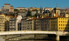 View of the city center, Lyon (France) Royalty Free Stock Images