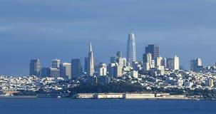 View of city center of San Francisco, California across bay Stock Photo