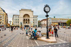 View of city center in Timisoara on July 22, 2014, Romania. Royalty Free Stock Image