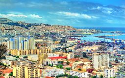 View of the city centre of Algiers in Algeria. View of the city centre of Algiers, the capital of Algeria royalty free stock image