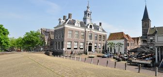 View of city centre of Edam with Town Hall, Netherlands Stock Photos