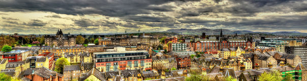 View of the city centre of Edinburgh Royalty Free Stock Photos