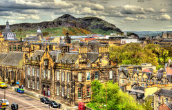 View of the city centre of Edinburgh Stock Photo