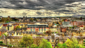View of the city centre of Edinburgh Royalty Free Stock Image