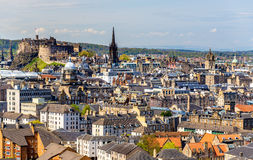 View of the city centre of Edinburgh Stock Photography
