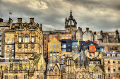 View of the city centre of Edinburgh Stock Photos