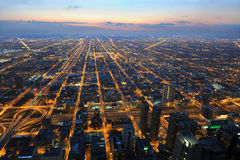 View of City of Chicago from the Air Stock Photo