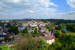 View of the city - Cieszyn. In Poland royalty free stock photography