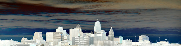 View of the city of Cincinnati Skyline Royalty Free Stock Photos