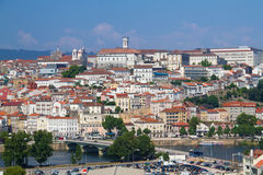View on city Coimbra Stock Photography