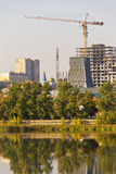 View of the city with the construction of high buildings.Chelyabinsk Stock Photos