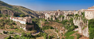 View of city of Cuenca, province Cuenca, Castilla-La Mancha, Spa Royalty Free Stock Images