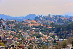 View of the city of Da Lat, Vietnam. stock images