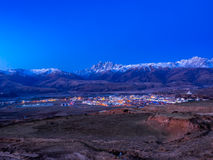 View of the city of Dege in Sichuan. China, in early morning Royalty Free Stock Image