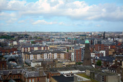 View of the city, Dublin, Ireland royalty free stock images