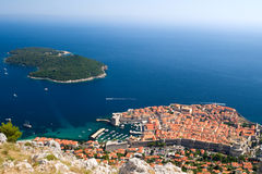 View on The city of Dubrovnik in Croatia Stock Images