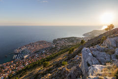 View of city of Dubrovnik in daylight Royalty Free Stock Photos