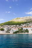 View of city of Dubrovnik from the sea Stock Photos