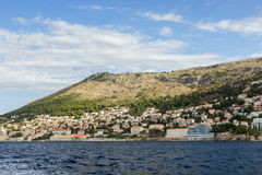 View of city of Dubrovnik from the sea Stock Image