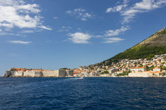 View of city of Dubrovnik from the sea Stock Photo