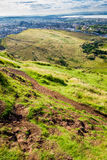 View of the city of Edinburgh from the top royalty free stock photography