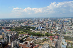 View of the city Ekaterinburg. From the lookout tower Vysotsky Royalty Free Stock Images