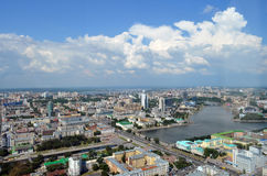 View of the city Ekaterinburg. From the lookout tower Vysotsky Stock Photos