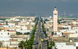 View of El Jem city from the Roman amphitheater, Tunisia. Royalty Free Stock Photos