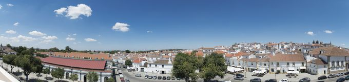 Panorama view of the city of evora, portugal Royalty Free Stock Photos