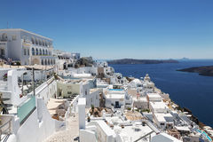 View of the city of Fira on the island of Santorini in Greece Royalty Free Stock Image