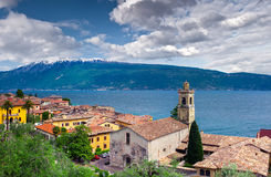 View of the city Gargnano and lake Garda Royalty Free Stock Images