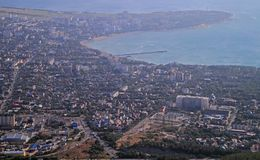 View of city Gelendzhik from the mountain Royalty Free Stock Photography