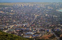 View of city Gelendzhik from the mountain Royalty Free Stock Photo
