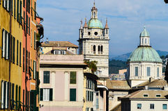 View of the city of Genoa, Italy Royalty Free Stock Photos