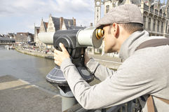 View of the city of Ghent Stock Photo