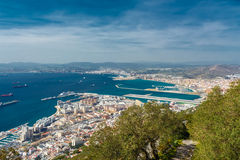 View of the city of Gibraltar Stock Photo