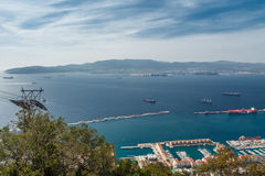 View of the city of Gibraltar Royalty Free Stock Images