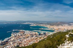 View of the city of Gibraltar Royalty Free Stock Image