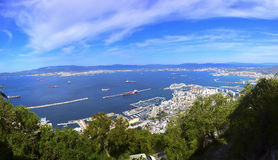 View of the City of Gibraltar Stock Photography