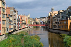View of the city of Girona Stock Photography