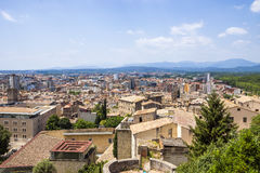 View on the city of Girona Royalty Free Stock Images