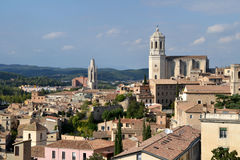 View of the city of Girona in Spain Stock Images